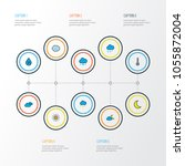weather icons colored line set... | Shutterstock .eps vector #1055872004