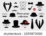 photo props collections. retro... | Shutterstock .eps vector #1055873300