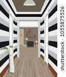 modern classic hall hallway...   Shutterstock .eps vector #1055875526