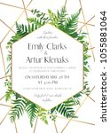 wedding invite  save the date...   Shutterstock .eps vector #1055881064