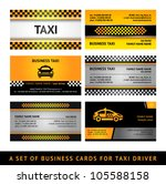 Business card taxi - fourth set. Vector 10eps