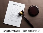 concept of justice and law.... | Shutterstock . vector #1055881910