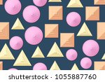 seamless patterns of the... | Shutterstock .eps vector #1055887760