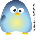 vector funny penguin | Shutterstock .eps vector #105588950