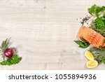Salmon Fish Fillet With Herbs...