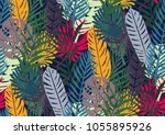 seamless pattern with trendy... | Shutterstock .eps vector #1055895926