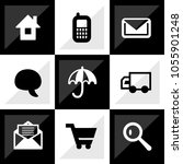 web icon set. it can be used as ... | Shutterstock .eps vector #1055901248