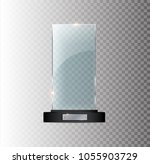 award glass trophy. vector... | Shutterstock .eps vector #1055903729