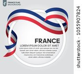 france flag background | Shutterstock .eps vector #1055907824