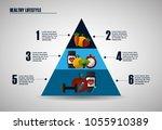 healthy foods dieting | Shutterstock .eps vector #1055910389