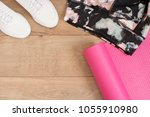 fashion trendy trainers and... | Shutterstock . vector #1055910980