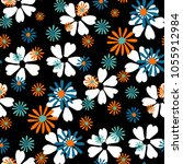 small floral pattern. cute...   Shutterstock .eps vector #1055912984