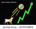 gold bull  throwing up theta... | Shutterstock .eps vector #1055918894