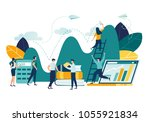 vector flat illustration ... | Shutterstock .eps vector #1055921834