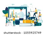 vector flat illustration ... | Shutterstock .eps vector #1055925749