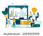 vector flat illustration ... | Shutterstock .eps vector #1055925959