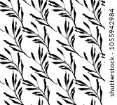 botanical seamless pattern with ... | Shutterstock .eps vector #1055942984