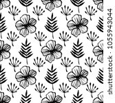 botanical seamless pattern with ... | Shutterstock .eps vector #1055943044
