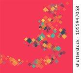 rhombus backdrop minimal... | Shutterstock .eps vector #1055947058
