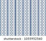 ikat seamless pattern. vector... | Shutterstock .eps vector #1055952560