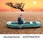 dumb funny business man stop on ...   Shutterstock . vector #1055966453