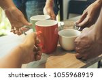 in the meeting time the company'... | Shutterstock . vector #1055968919