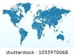 color world map vector | Shutterstock .eps vector #1055970068