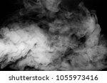 smoke vapor white isolation...   Shutterstock . vector #1055973416