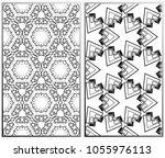vector monochrome seamless... | Shutterstock .eps vector #1055976113