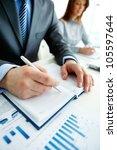 vertical shot of business...   Shutterstock . vector #105597644