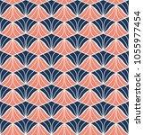 vector shell seamless pattern.... | Shutterstock .eps vector #1055977454