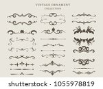 ornate frames and scroll... | Shutterstock .eps vector #1055978819