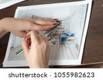 outline drawings for the design ... | Shutterstock . vector #1055982623