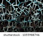 textures steel t bar  | Shutterstock . vector #1055988746