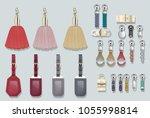 zipper pulls handbag... | Shutterstock .eps vector #1055998814