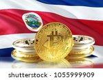 bitcoin coins on costa rica's... | Shutterstock . vector #1055999909