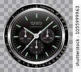realistic watch clock... | Shutterstock .eps vector #1055999963