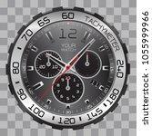 realistic watch clock... | Shutterstock .eps vector #1055999966