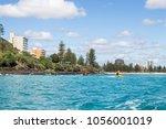 coastline of the gold coast ... | Shutterstock . vector #1056001019