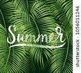 beautiful floral summer pattern ... | Shutterstock .eps vector #1056011246