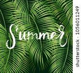 beautiful floral summer pattern ... | Shutterstock .eps vector #1056011249