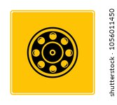ball bearing symbol in yellow... | Shutterstock .eps vector #1056011450