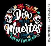 dia de los muertos badge | Shutterstock .eps vector #1056016343