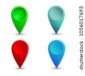 location gps icon sign. vector | Shutterstock .eps vector #1056017693