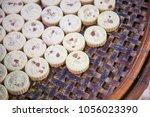 traditional macau almond... | Shutterstock . vector #1056023390