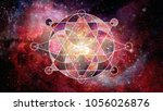 abstract cosmos geometric... | Shutterstock . vector #1056026876