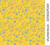 flower pattern seamless in... | Shutterstock .eps vector #1056029264