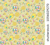flower pattern seamless in... | Shutterstock .eps vector #1056029270