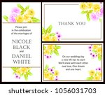 invitation with floral... | Shutterstock .eps vector #1056031703