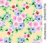 abstract elegance seamless... | Shutterstock . vector #1056035756
